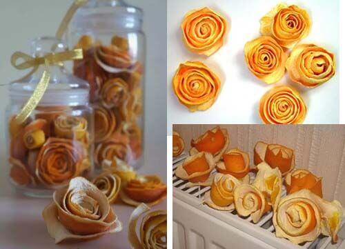 Как сделать сухие розочки из кожуры апельсина