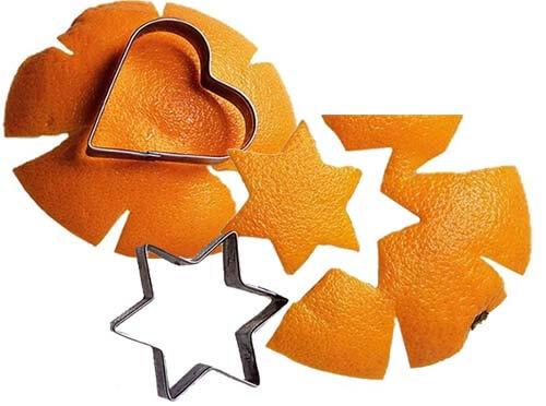 Как вырезать фигурки из апельсиновых корок