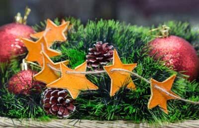 Настольная композиция для декора на новый год