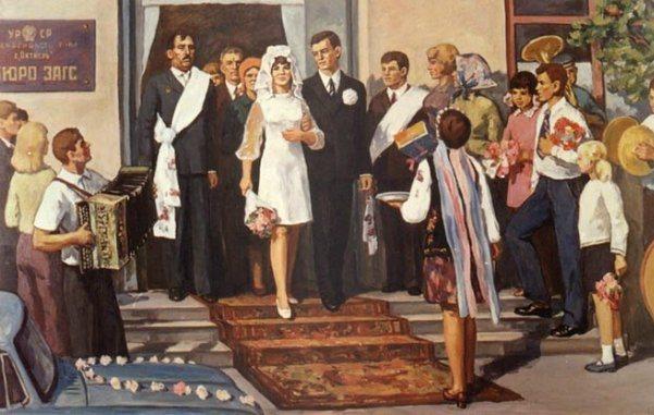 свадьба в стиле 60-х