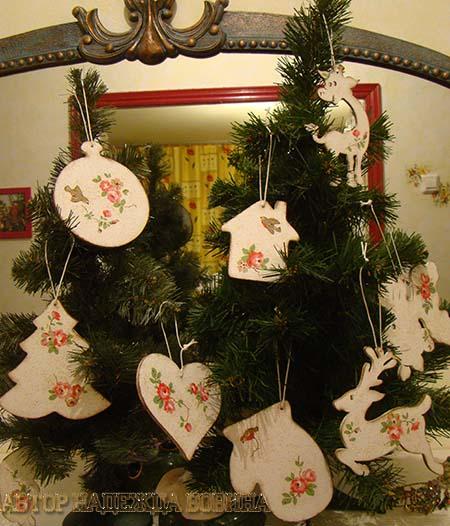 Новогодние игрушки своими руками на елке