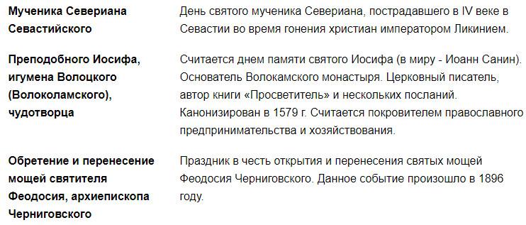 православные праздники 22 сентября 2020 года